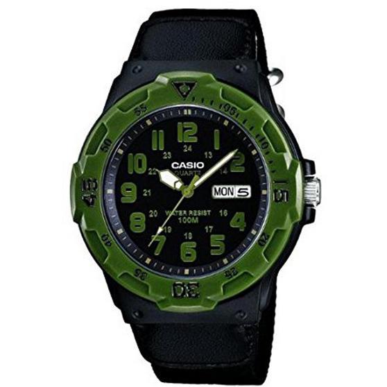 Casio MRW200HB/IB Men's Quartz Watch with Black Strap