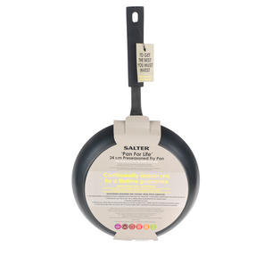 Salter BW05456BS Carbon Steel Pan for Life Frying Pan, 24 cm, Black Thumbnail 6