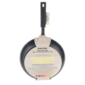 Salter Carbon Steel Pan for Life Frying Pan, 28 cm, Black Thumbnail 6