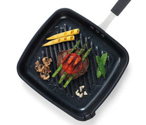 Salter BW05459BS Carbon Steel Pan for Life Griddle Pan, 26 cm, Black Thumbnail 7