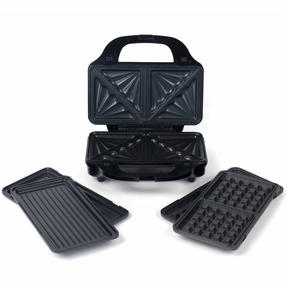 Salter Deep Fill 3-in-1 Snack Maker with Waffle, Panini and Toasted Sandwich Plates, 900 W Thumbnail 2
