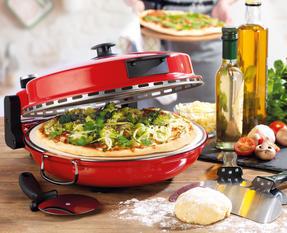 Giles & Posner EK2309 Red Bella Pizza Maker Thumbnail 2