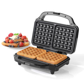 Salter Deep Fill Waffle Maker with XL Non-Stick Cooking Plates, 900 W, Silver	 Thumbnail 7