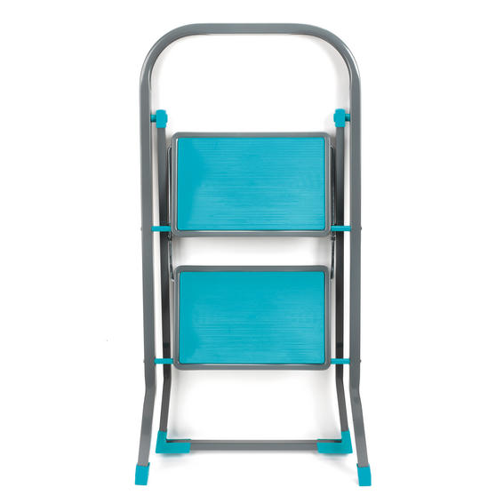 Beldray LA023957TQ Fold Away Compact Two-Step Ladder, Turquoise  Thumbnail 2