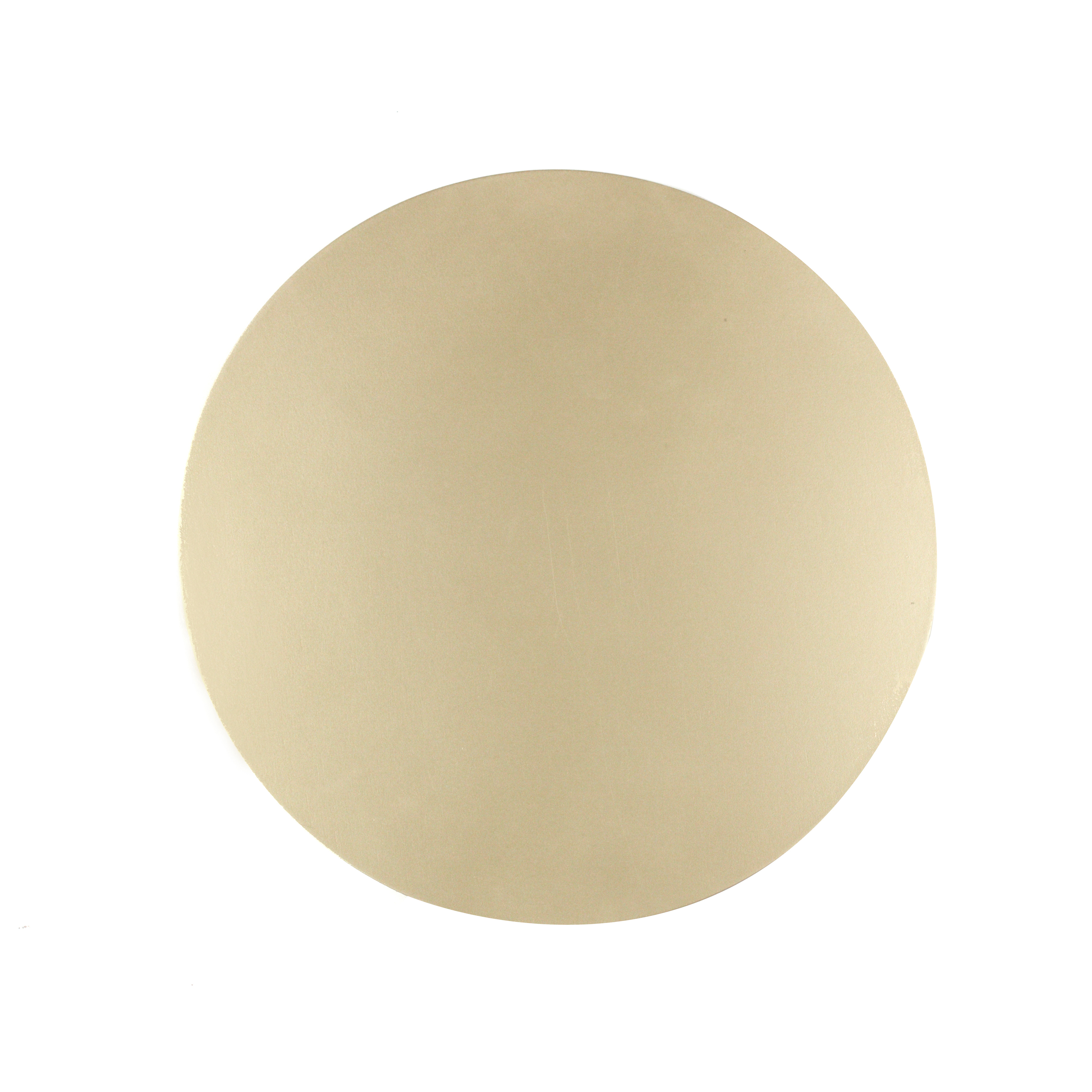 Inspire Luxury Shimmer Metallic Round Placemat 29cm Mdf Gold Set Of 4