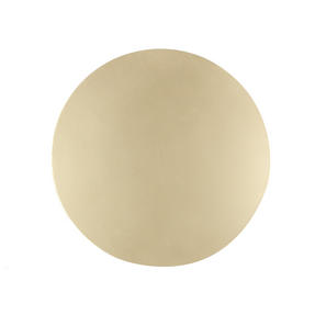 Inspire Luxury Shimmer Metallic Round Placemat, 29cm, MDF, Gold, Set of 4
