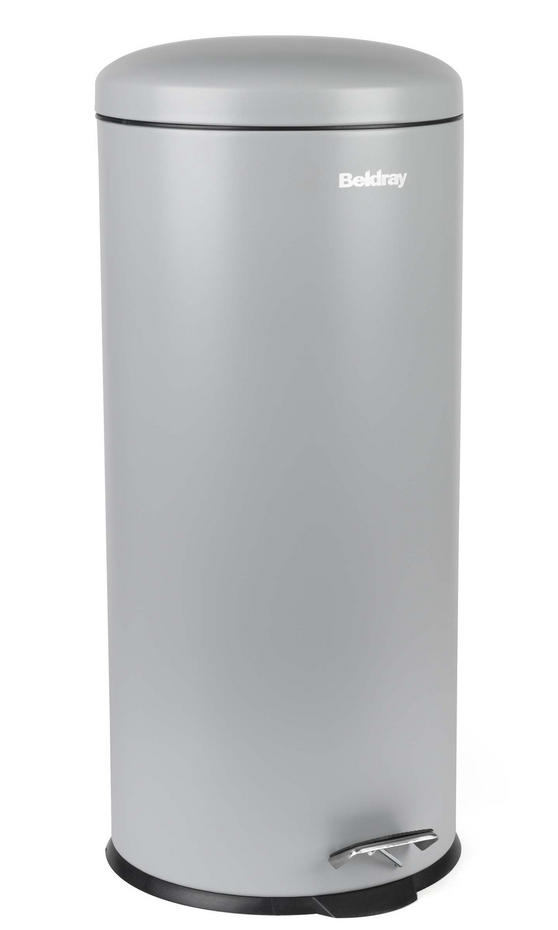 Beldray LA038074GRY 30 Litre Grey Kitchen Bin with Soft Closing Lid