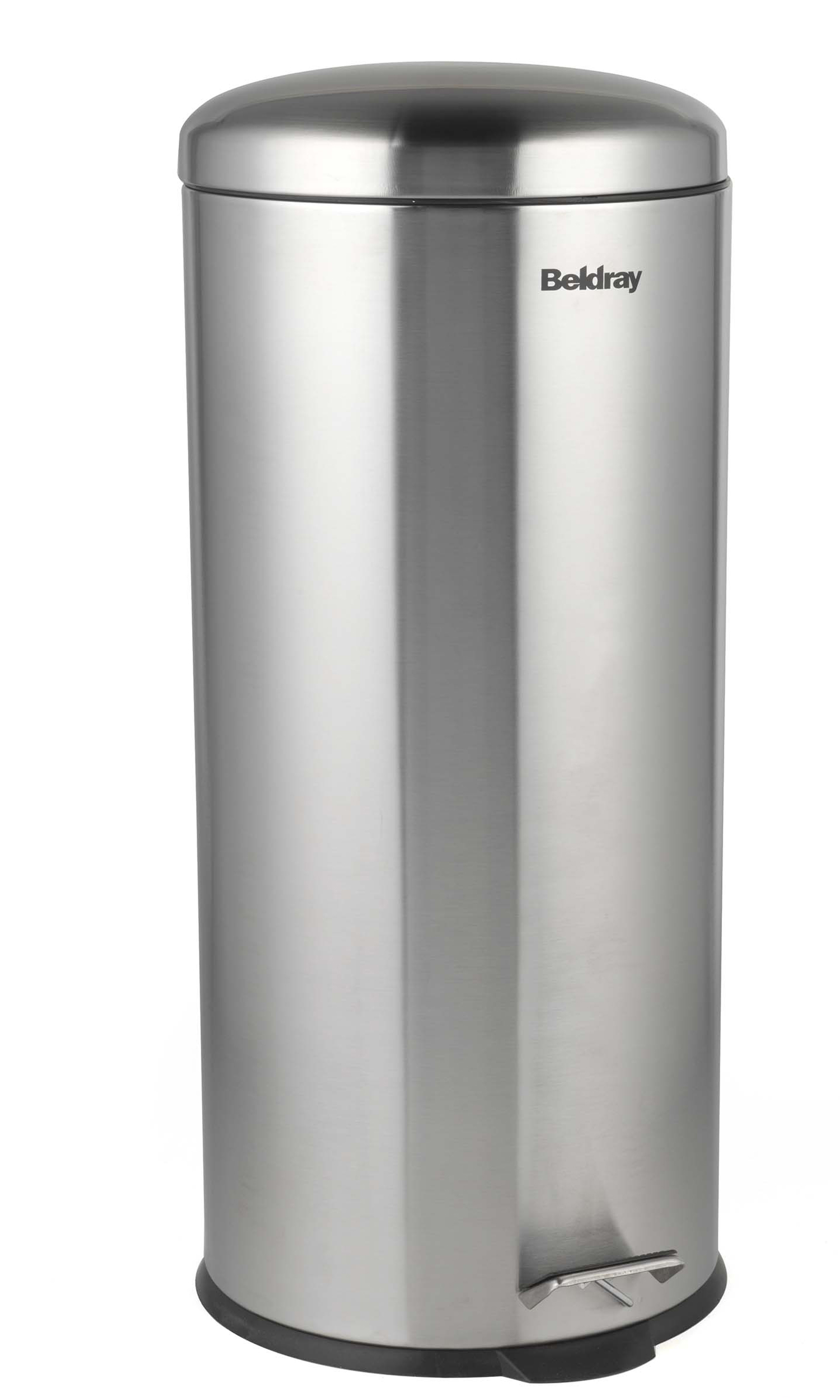 Beldray La038074ss 30 Litre Stainless Steel Kitchen Bin With Soft Closing Lid