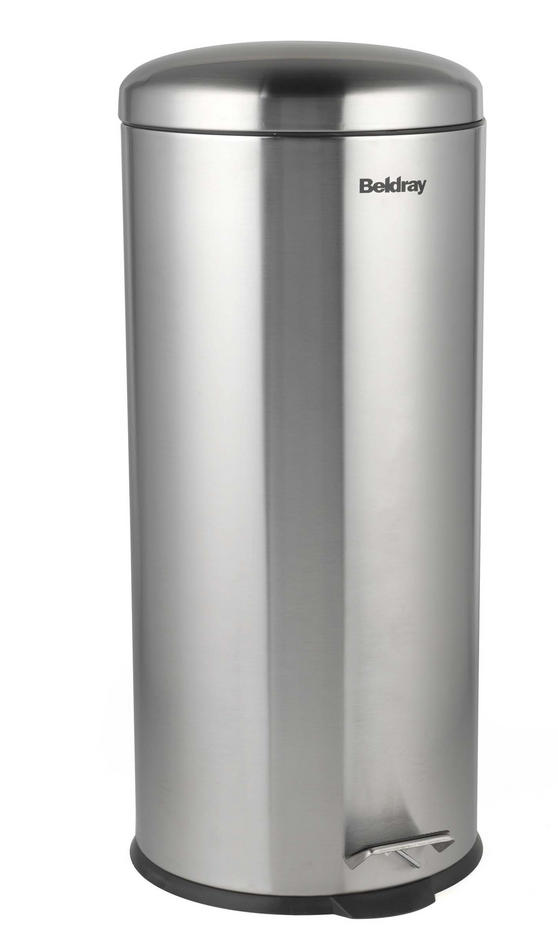 Beldray LA038074SS 30 Litre Stainless Steel Kitchen Bin with Soft Closing Lid Thumbnail 1