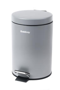 Beldray LA038098GRY 3 Litre Grey Waste Bin with Soft Closing Lid