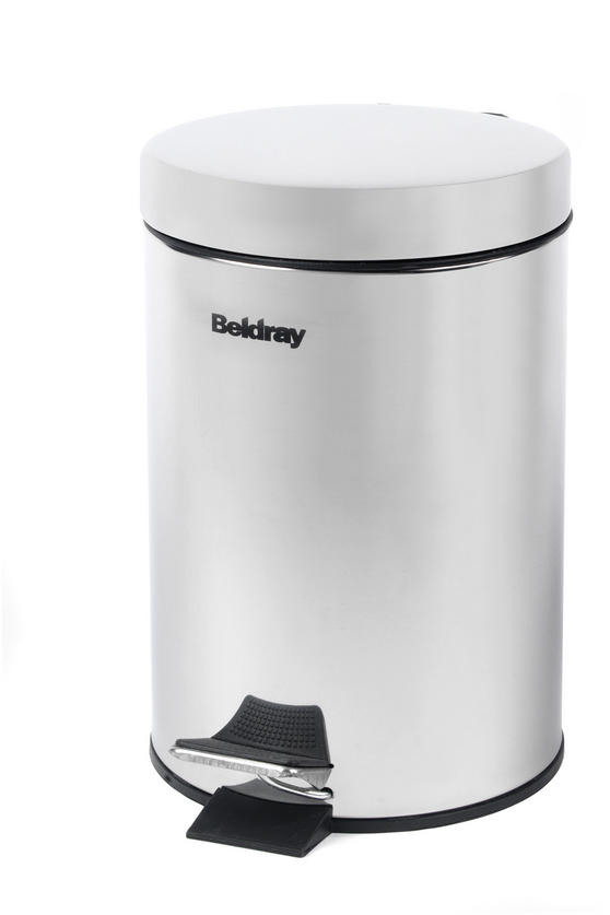 Beldray LA038098SS 3 Litre Stainless Steel Waste Bin with Soft Closing Lid Thumbnail 1