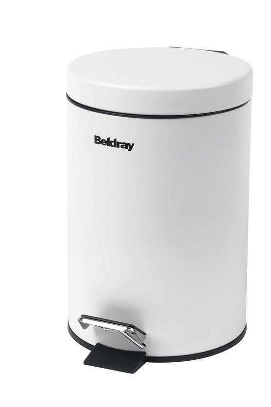 Beldray LA038098WHT 3 Litre White Waste Bin with Soft Closing Lid