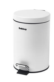 Beldray LA038098WHT 3 Litre White Waste Bin with Soft Closing Lid