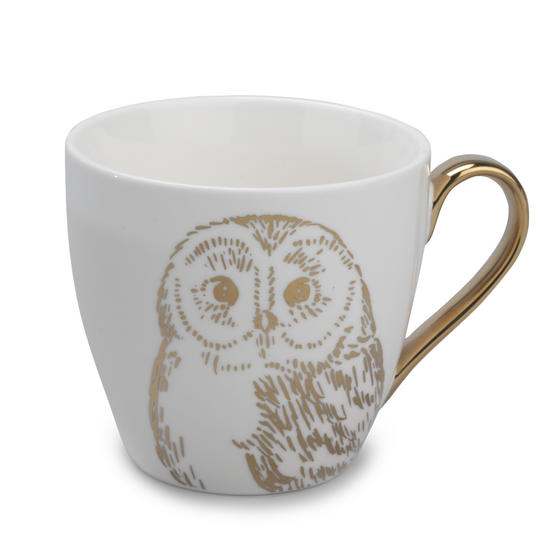 Cambridge CM05035 Kendal Gold Owl Fine China Mug