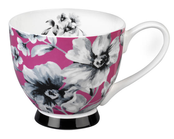 Portobello CM04811 Footed Maya Pink Sandringham Fine Bone China Mug