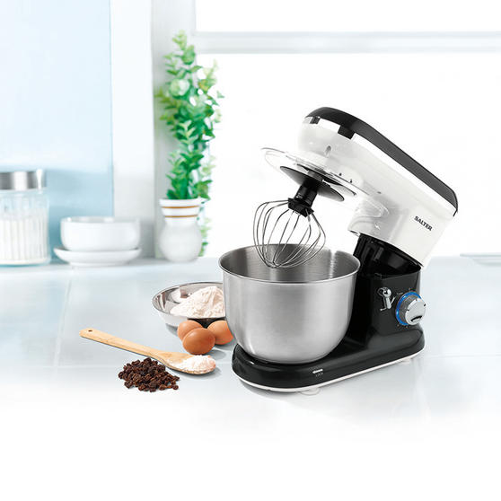 Salter EK2290 Food Stand Mixer 600 Watt Black and White with 4.5 Litre Bowl