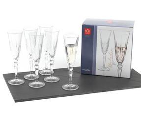 RCR 25600020006 Crystal Melodia Champagne Flutes Set of 6 Thumbnail 1