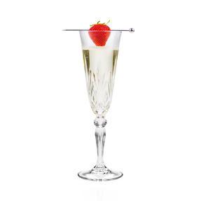 RCR 25600020006 Melodia Crystal Champagne Flutes, 160 ml, Set of 6 Thumbnail 2