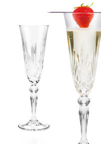 RCR 25600020006 Melodia Crystal Champagne Flutes, 160 ml, Set of 6 Thumbnail 5