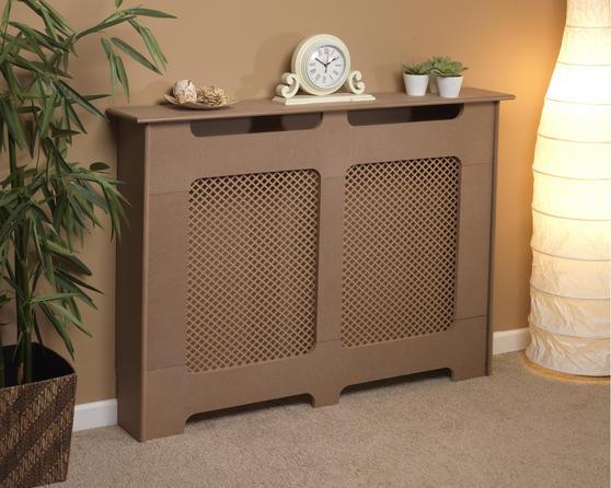 Beldray EH1838STK Wooden Radiator Cover, 100% FSC, Medium, Natural Finish