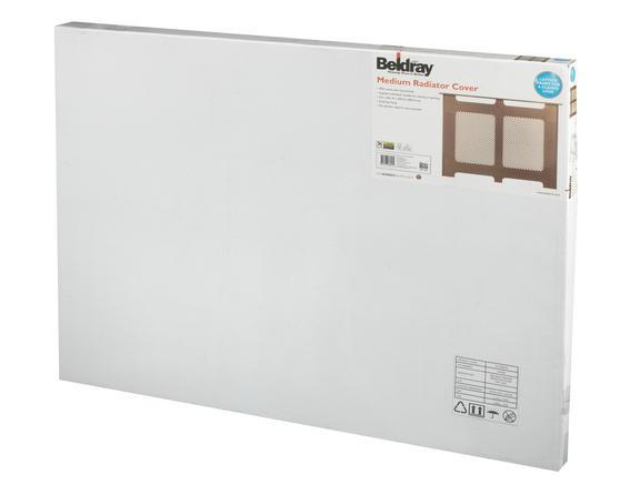 Beldray Wooden Radiator Cover, 100% FSC, Medium, Natural Finish Thumbnail 3