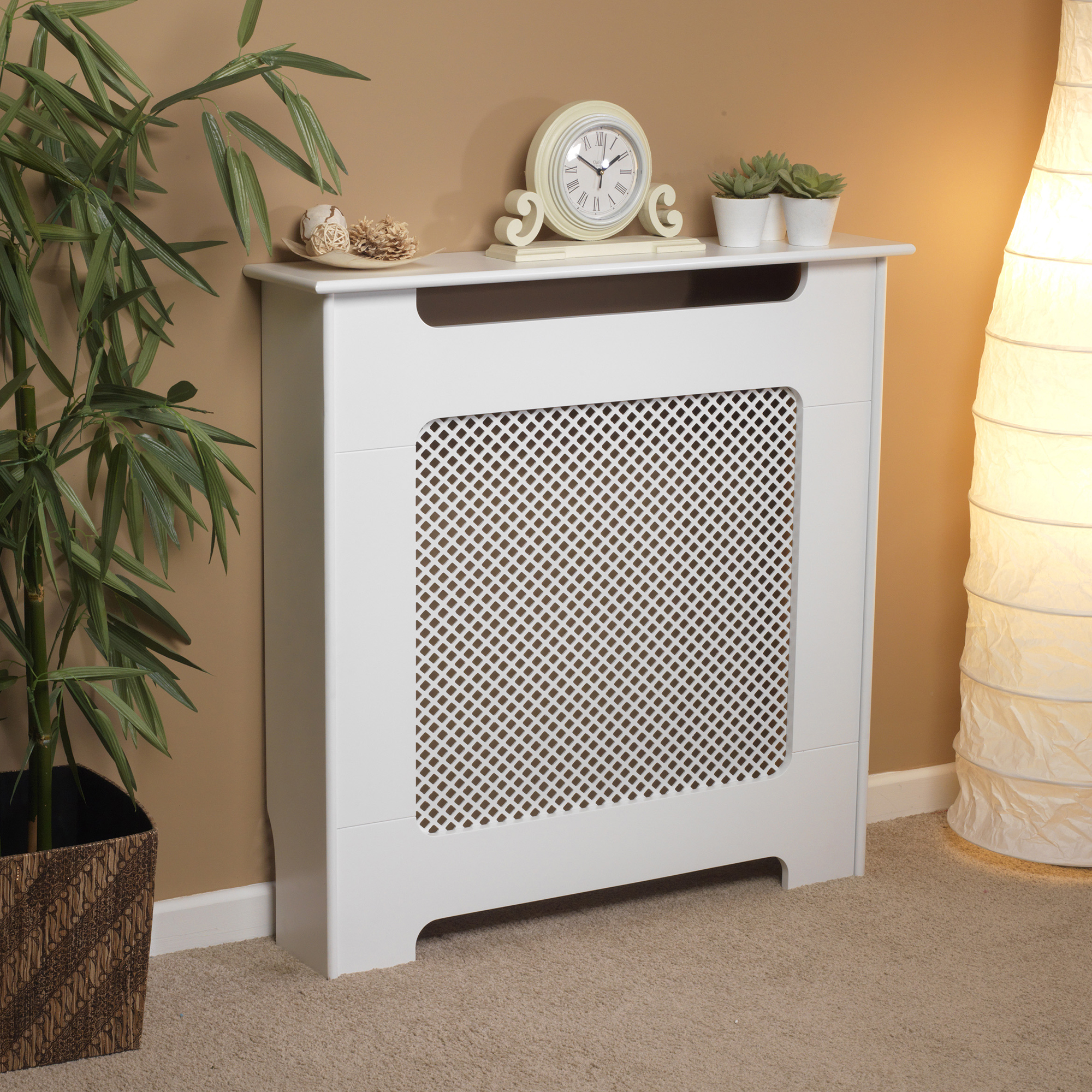 Beldray Eh1840stk Wooden Radiator Cover 100 Fsc Small White Satin Finish No1brands4you