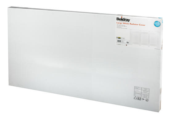 Beldray Wooden Radiator Cover, 100% FSC, Large, White Satin Finish Thumbnail 3