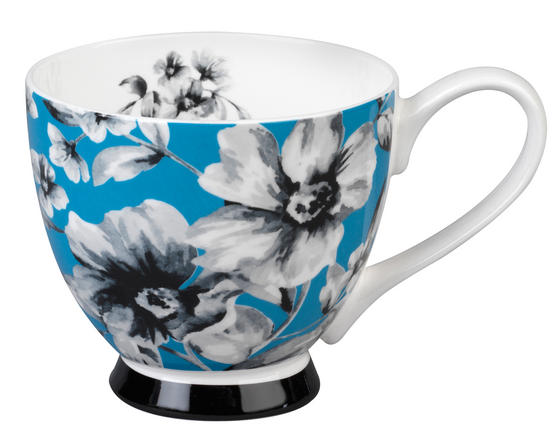 Portobello CM04784 Footed Maya Blue Sandringham Fine Bone China Mug
