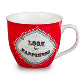 Cambridge Oxford Look For Happiness Fine China Mug CM04709 Thumbnail 1