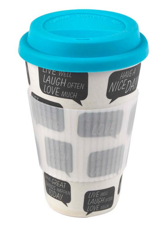 Cambridge CM04521 Bamboo Positive Thoughts Travel Mug