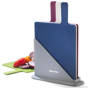 Salter Chopping Board Set, Multicolour, Set of 4 Thumbnail 1