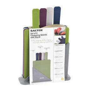 Salter Chopping Board Set, Multicolour, Set of 4 Thumbnail 3