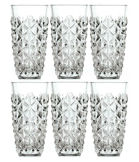 RCR 25754020006 Enigma Luxion Crystal Glass Hi-Ball Tumblers, 400 ml, Set of 6