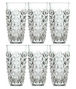 RCR 25754020006 Enigma Luxion Crystal Glass Hi-Ball Tumblers, 400 ml, Set of 6 Thumbnail 1