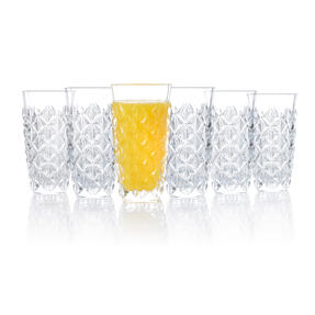 RCR 25754020006 Enigma Luxion Crystal Glass Hi-Ball Tumblers, 400 ml, Set of 6 Thumbnail 2