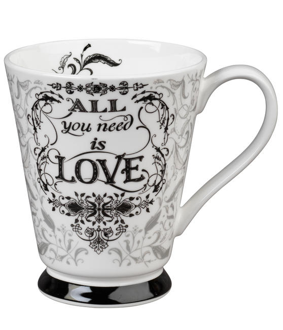 Portobello CM05008 Buckingham All You Need Is Love Bone China Mug