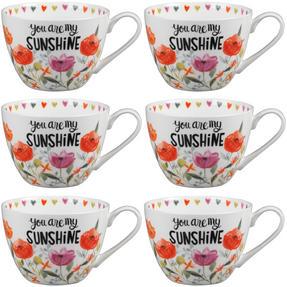 Portobello CM05064 Wilmslow You Are My Sunshine Bone China Mug Set of Six Thumbnail 1