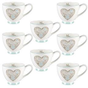 Portobello CM05083 Sandringham No Place Like Home Bone China Mug Set of Eight Thumbnail 1