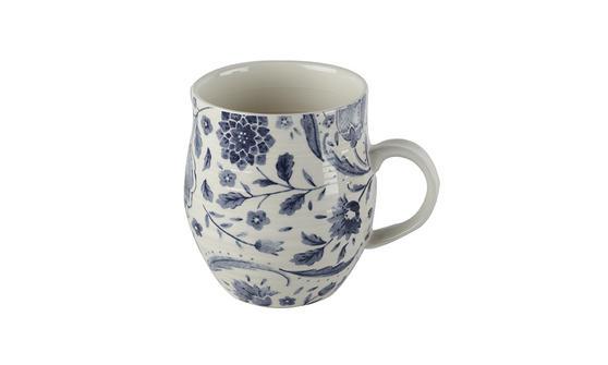 Portobello Anglesey Indigo Leaves Stoneware Mug