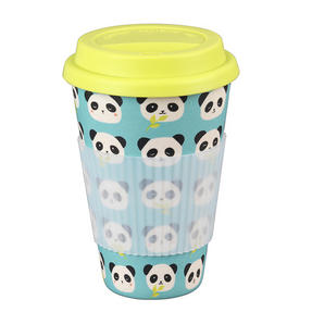 Cambridge CM046791 Bamboo Panda Travel Mug Thumbnail 1