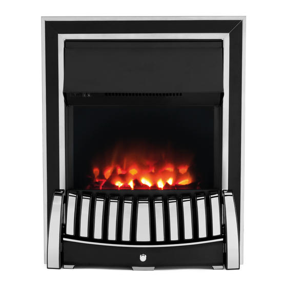 Beldray Almeria Premium Chrome Effect Inset or Free Standing Electric Fire