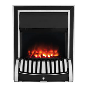 Beldray EH1908 Almeria Premium Chrome Effect Inset or Free Standing Electric Fire