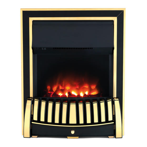Beldray Almeria Premium Brass Effect Inset or Free Standing Electric Fire Thumbnail 1