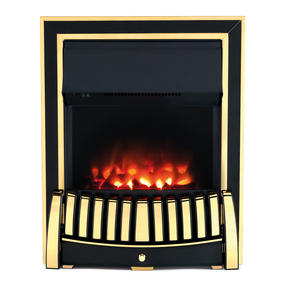 Beldray EH1909 Almeria Premium Brass Effect Inset or Free Standing Electric Fire Thumbnail 1