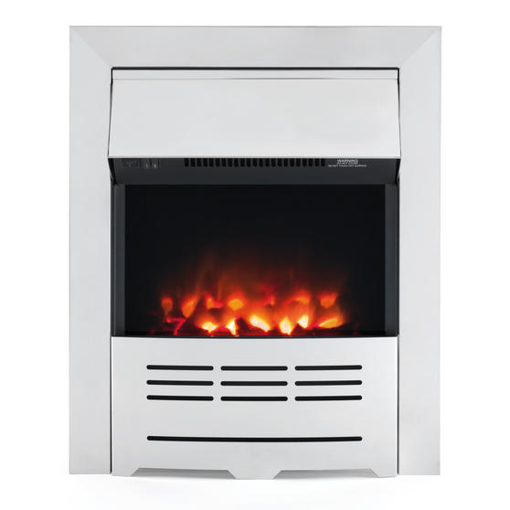Beldray Seville Premium Chrome Effect Inset or Free Standing Electric Fire Thumbnail 1