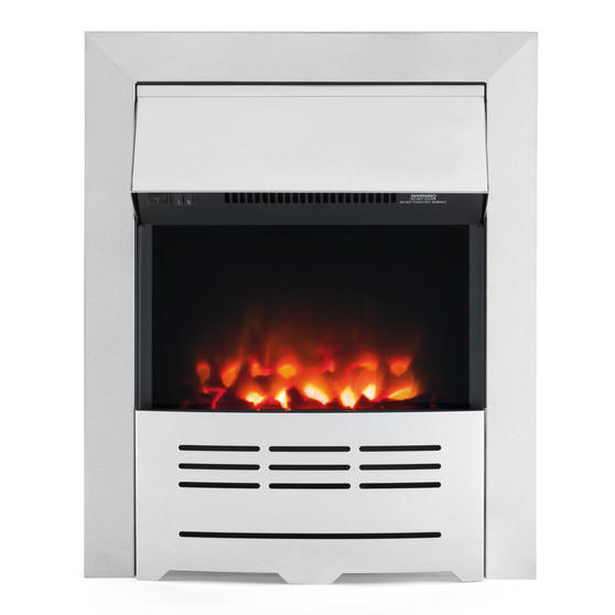 Beldray Seville Brushed Steel Effect Inset or Free Standing Electric Fire