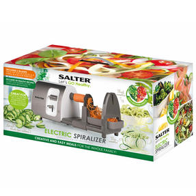 Salter 3 in 1 Side Loading Electric Fruit and Vegetable Spiralizer, 15 W Thumbnail 4