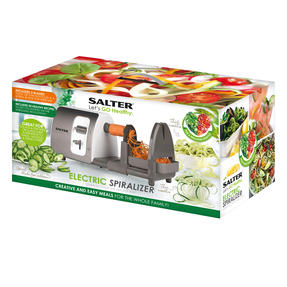 Salter 3 in 1 Side Loading Electric Fruit and Vegetable Spiralizer, 15 W Thumbnail 11