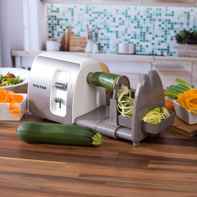 Salter EK2299 3 in 1 Side Loading Electric Fruit and Vegetable Spiralizer, 15 W Thumbnail 6