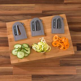 Salter EK2299 3 in 1 Side Loading Electric Fruit and Vegetable Spiralizer, 15 W Thumbnail 7